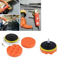 Wholesale 5 inch Buffing Pad Auto Car Polishing sponge Wheel Kit With M10 Drill Adapter Buffer