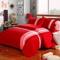 Wholesale King Size Rose Bedding Sets - 4 Pieces sets 100% Cotton king Bedding Set King Size Bedcover Bedding Set Luxury Quilt Cover Sets