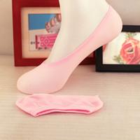 Wholesale candy women socks - 6.8Z Women's Socks Short Candy Color Dot Cute Art Socks Female Thin Ankle Cotton Blends Socks Low Cut Sock Chaussettes Femmes