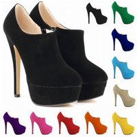 Wholesale Womens High Heel Dress Boots - Sapato Feminino New Brand High Heels Dress Party Women Shoes Ladies Womens Pumps Us Size 4-11 D0039
