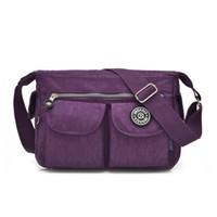 Wholesale- Women Fashion Messenger Bag Cute Monkey Female Printing Zipper Nylon  Shoulder Bag Handbag Female Traveling Crossbody Bags ff8ac7eaf4c25