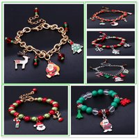 Wholesale Jesus Beaded Chain - Buy 1 free 1 Christmas Gift Enamel Charm Christmas Bracelet Jesus Pendant Bharm Bracelet Men Vintage Bracelet & Bangles For Men Women
