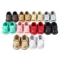 yürümeye başlayan çocuk ayakkabıları lastik tabanlar toptan satış-2017 Çocuk Sandalet Püsküller Bebek Ayakkabı Bebek erkek Kız ayakkabı Yumuşak kauçuk taban Yaz Çocuklar Ayakkabı Toddler ÜCRETSIZ DHL 2017