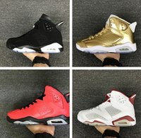 Wholesale Mens Gym Tops - Wholesal air retro 6 mens basketball shoes top quality hare sneaker Infrared Oreo black cat sneaker Pinnacle Metallic Gold Running Shoes