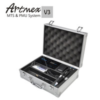 Wholesale Tattoo Models - Artmex V3 model Tattoo Permanent Makeup Pen Machine Eyebrow Make up&Lip Rotary Tattoo Machine Strong Motor Pen Gun Free Shipping
