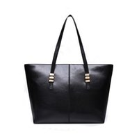 Wholesale Good Coupons - Wholesale-COUPON good leather hanbags women ladies top handle bags solid black red casual tote simple shoulder bags sewing thread style PU