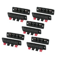 Wholesale Pcb Terminal Pin - Wholesale- CES-10Pcs PCB Mount 1 Row Vertical 4 Position 4 Pin Speaker Terminal