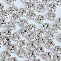 Wholesale Glass Rhinestones Flatback Rose - Premium Quality Strass Non Hotfix Rhinestone SS5-SS30 Crystal Glass Silver Coating Flatback 7big 7small Cut Faceted 2028 Xilion Rose
