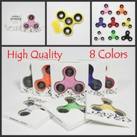 Wholesale Ball Big - Wholesale BEST PRICE 8 Colors Hand Spinner Fidget Spinners With Retail Box Metal Ball Bearings EDC Toy For Decompression Finger Toys