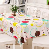 Wholesale Dining Table Cloth Cover - European PVC Tablecloth Party Wedding Decor Home Kitchen Dining Table Cloth Waterproof Oilproof Non-clean Square Table Cover