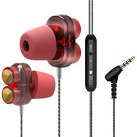 Wholesales-PayrainNew Hifi Earphone super bass Stereo Wired dual driver Cuffie dinamiche PK Xiaomi Hybrid Pro auricolari per Iphon xiaomi THL