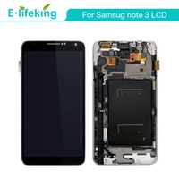 Wholesale Note Screen Digitizer - LCD For Samsung Galaxy Note3 N9005 N900A N900T N9000 LCD Display Touch Screen Digitizer Assembly with Frame +Free Shipping