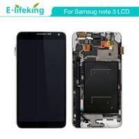 not 3 toptan satış-Samsung galaxy note3 n9005 n900a n900t için lcd ekran n9000 çerçeve + ücretsiz kargo ile lcd ekran dokunmatik ekran digitizer meclisi