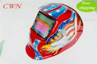 Wholesale Mask Welding Cheap - Cheap Solar auto darkening shading with grinding function welding mask helmet face mask goggles Make your hands free HLY-107 Free shipping