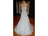 Wholesale strapless fitted backless wedding dresses online - Real Sample Strapless Fit and Flare Dropped Waist Floral lace Bridal Gown Wedding Dress COR Vestido De Noiva