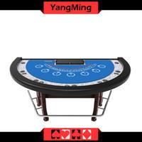 Wholesale Wholesale Custom Poker Chips - New Design Half Round Custom Blackjack Poker Table Manufacture CasinoTable With Standard Poker Chip (YM-BJ03)