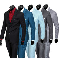 Wholesale Good Dress Pants - ( jacket + vest + pants ) New spring men's slim fit business a three-piece suits   Male good groom dress  men Blazers Free Shipping