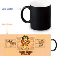 Wholesale hong kong wholesales - Wholesale- Hong Kong Phooey Custom Made Design Water Coffee Mug Novelty Gift Mugs Morphing Ceramic Cup 12 OZ Office Home Cups