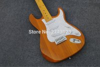 Wholesale Body Requirements - High quality transparent yellow elm ST electric guitar EMS free postage. LOGO can be designed according to the requirements of