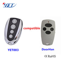 Wholesale gate transmitters - Wholesale- Free Shipping !!! 10 pcs   lot DOORHAN Replacement Rolling Code Remote Control Transmitter Gate Key Fob