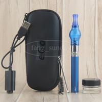 China Direct eGo T Glass Globe Cire Dôme Vaporisateur Pen avec Glass Jar Container 650 900 1100 mah EVOD Dab Pens Starter Kit
