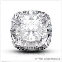 Very Good square cushion cut diamond - 10 ct H VS2 Exc Pol Square Cushion GIA Natural Diamond x12 x8 mm