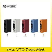 Wholesale Evic Batteries - Authentic Joyetech eVic VTC Dual Mod 75W 150W VT TCR Modes Authentic Box Mod Replaceable Battery Cover For 1 or 2 Cell 2220055