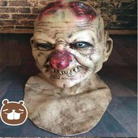 Wholesale Scary Devil Mask - Top Grade Horror Grimace Mask Practical Joke Latex Scary Mask Zombie Corpse Mummy Devil Extraterrestrial Intelligence Ghost Mask Toy