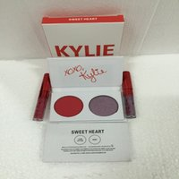 Wholesale two lipsticks for sale - kylie valentines collection kyshadow duos diary eye shadow Eyeshadow Palette Cosmetic with pc lipstick valentine day gift