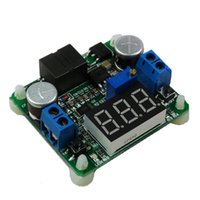 Wholesale Dc Voltage Regulator Step Down - 25W Power Supply Module Step Up Down Module DC Boost Buck Converter Module Integrated Voltmeter Super LM2577 LM2596