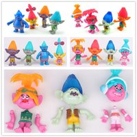 Trolls Action Figure jouets 8 Styles 2 Versions 11cm Poppy Branch Biggie DJ Suki Creek Coopper Enfants dessin animé Joint uglydolls PVC minifigure