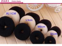saç şekillendirici çörek topuz toptan satış-Epack 12 adet Boyut S / M / L Kadınlar Lady Magic Shaper saç Donut Saç Halka Bun Aksesuarları Styling Aracı Saç Aksesuarları