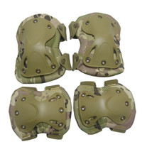 Barato Protetor De Cotovelo-SINAIRSOFT High Qualty Field Elbow Knee Pads Sports SafetyElbow Pad para esportes Set Knee Protector outdoor tactical protetor gear4 Pcs / Set