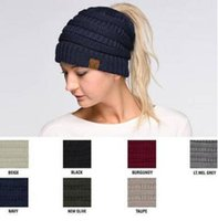 Wholesale Beanies Knitted Hats Ladies - CC Beanie Hats Caps Winter Caps for Ladies Women Autumn Winter Casual Knitted Hats For Teens Women Adult Caps 1006
