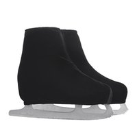 Wholesale Adult Ice Skating - Wholesale- 24 Colors Child Adult Velvet Ice Skating Figure Skating Shoes Cover Solid Color Rollar Skate Shoes Accessories Athletic Black