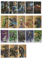 Wholesale Card Games Wholesale - 18 card set Mini card Zelda Amibo Maps Baby Toys Amibo NFC Tag Maps Breathing Wild Full Set
