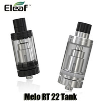 Wholesale Er Glass - 100% Orignal Eleaf Melo RT 22 Atomizer 3.8ml Retractable Top Filling Tank With ER 0.3ohm Heads