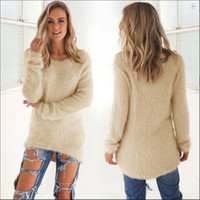 Wholesale Knitting Blouse Womens - Fashion Female Tops Causal Women Blouse Autumn Winter Women Long Sleeve Loose Knitting Cardigan Sweater Womens Knitted Female Cardigens