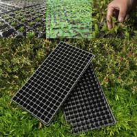 5pcs seedling starter tray black plastic 200 cell seed germination plants propagation nursery pots tray vegetables garden tools