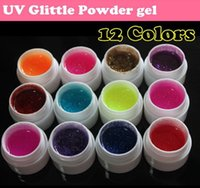 Wholesale Black Nail Acrylic Powder - Wholesale- Flash powder Glitter UV Nail Gel Acrylic Polish styling nail tools makeup gel nails polish nail art M670