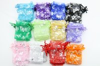 Chirstmas organza bags bulk - 100Pcs Bulk Butterfly Organza Fabric Jewelry Gift Favor Candy Bags Pouch Package Wedding Bags