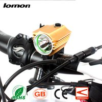 Wholesale Head Flashlight Waterproof - SolarStorm Waterproof LED Cycling Light LED Bike Bicycle Light LED Headlight Lamp Flashlight Torch With Rechargable Battery + Charger Hot