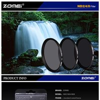 Wholesale Nd Filters - Zomei Neutral Density Filter Lens Kit ND ND2+ND4+ND8 77mm for Canon Nikon Sony camera lens