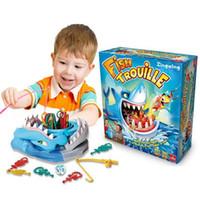 große weiße haie großhandel-Neue Fische Trouille Weißer Hai Brettspiel Kinder Familie Kinder Party Interaktiv Spaß Hai Spielzeug für Sammlung und Dekoration