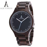 Wholesale Ladies Wooden - ALK Vision 2017 Wood watch Women watches couples clock men watches top brad luxury Fashion Ladies wristwatch