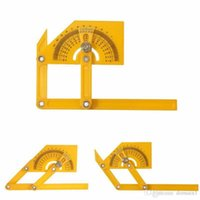 Wholesale Newest Inch Angle Finder Protractor Goniometer Miter Gauge Plastic Brass Fittings cm Degrees Best Price
