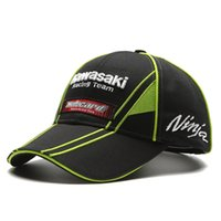 Wholesale F1 MOTO GP Sport Cap F1 Car Motocycle Racing Kawasaki Ninja Embroidery Motocard Baseball Cap gorras trucker Running Cap Hat