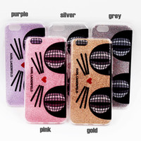 Wholesale Cat Bling Iphone Cases - Hybrid Soft TPU Bumper + PC Back Cover Cat Glitter Bling Shock-Absorbing Protective Shell Case For iphone 6 iphone 6s plus cases