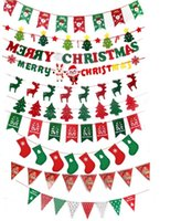 ingrosso bandiere del giardino di natale-2017 new Christmas Garden Flags 25 * 300cm Indoor Outdoor Hanging Poliestere Garden Flags Decorazioni di Natale Xmas Party Home Decor 10 Stili