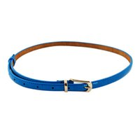 Wholesale Bowknot Belt Leather - New Women 4 Color PU Leather Adjustable Waist Narrow Waistband Alloy Bowknot Belts for Women